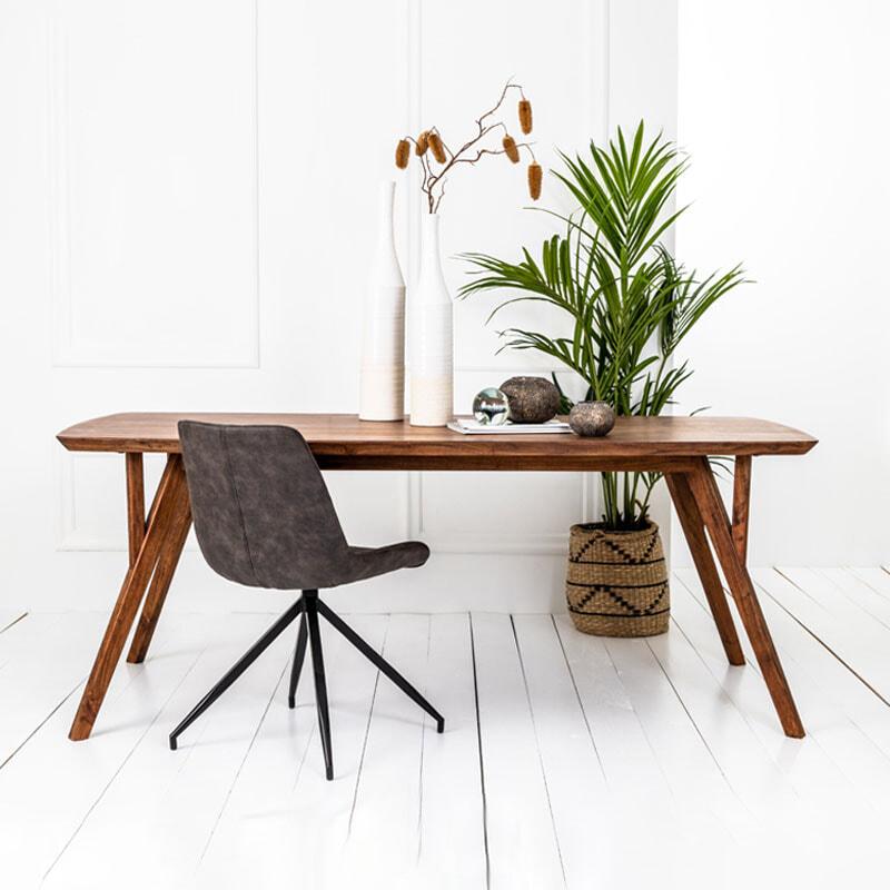 Light & Living Eettafel 'Quenza' 220 x 100cm, acacia hout | Light & Living