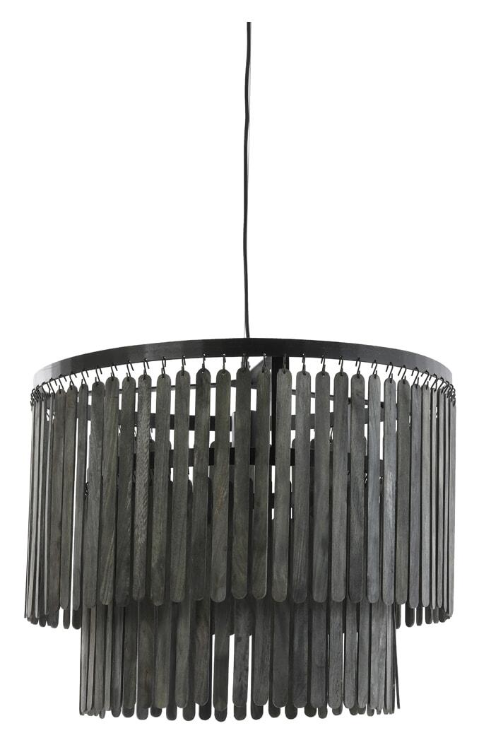 Light & Living Hanglamp 'Gulag' 60cm, kleur Zwart | Light & Living