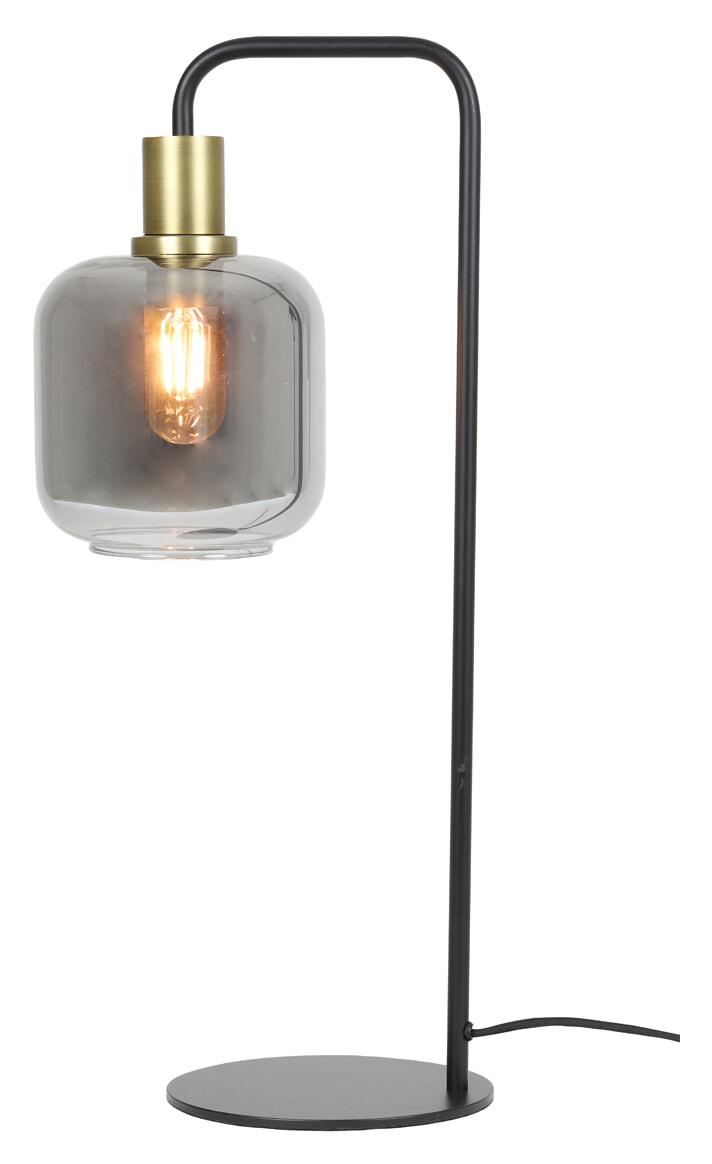 Light & Living Tafellamp 'Lekar' kleur Antiek Brons/Smoke   Light & Living