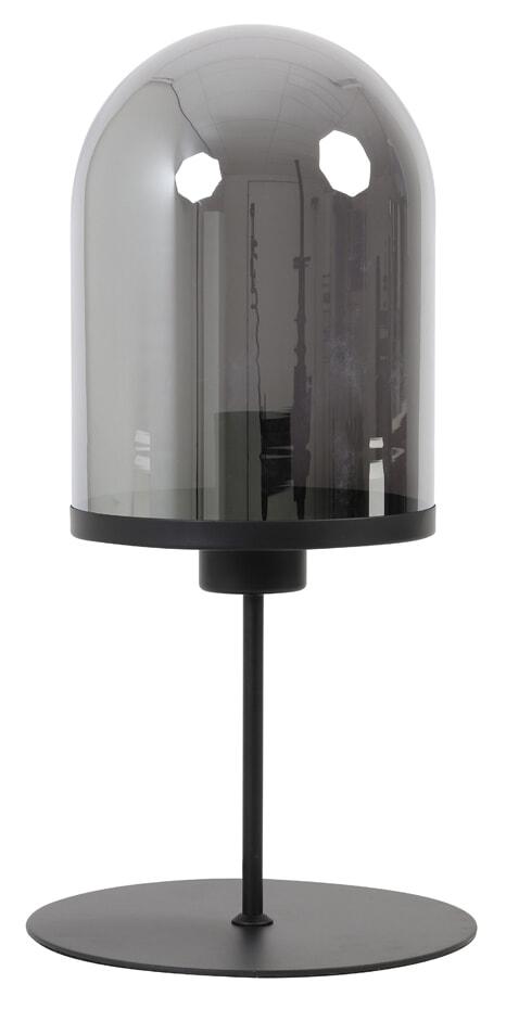 Light & Living Tafellamp 'Maverick' 50cm, mat zwart+smoke glas   Light & Living