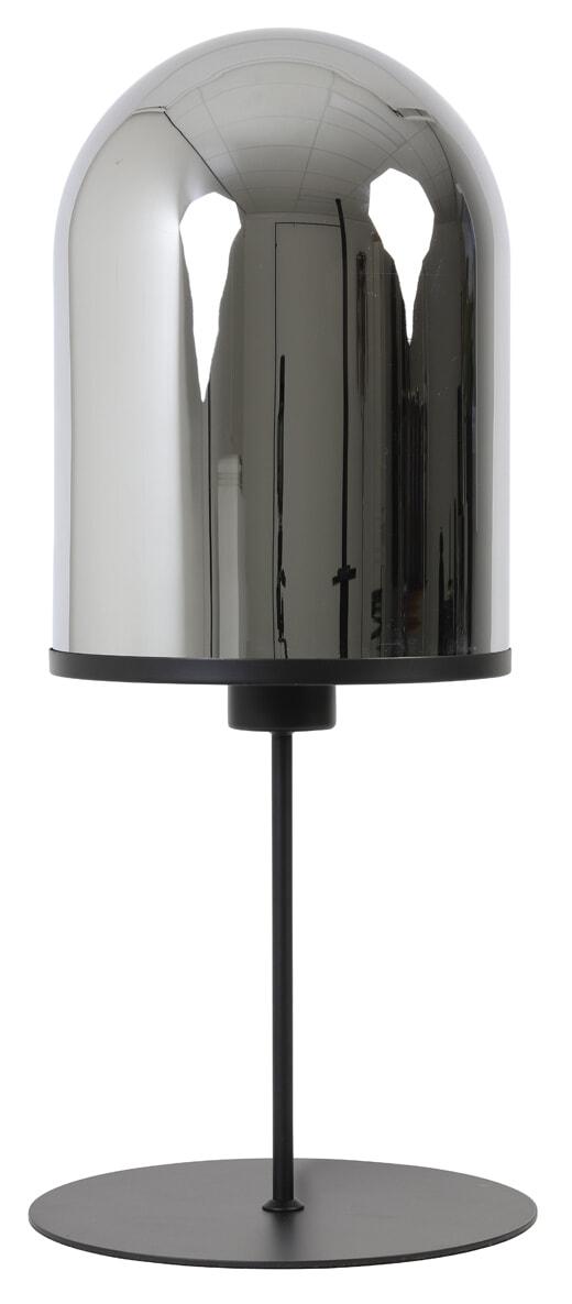 Light & Living Tafellamp 'Maverick' 65cm, mat zwart+smoke glas   Light & Living