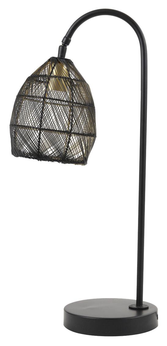 Light & Living Tafellamp 'Meya' kleur Mat Zwart   Light & Living