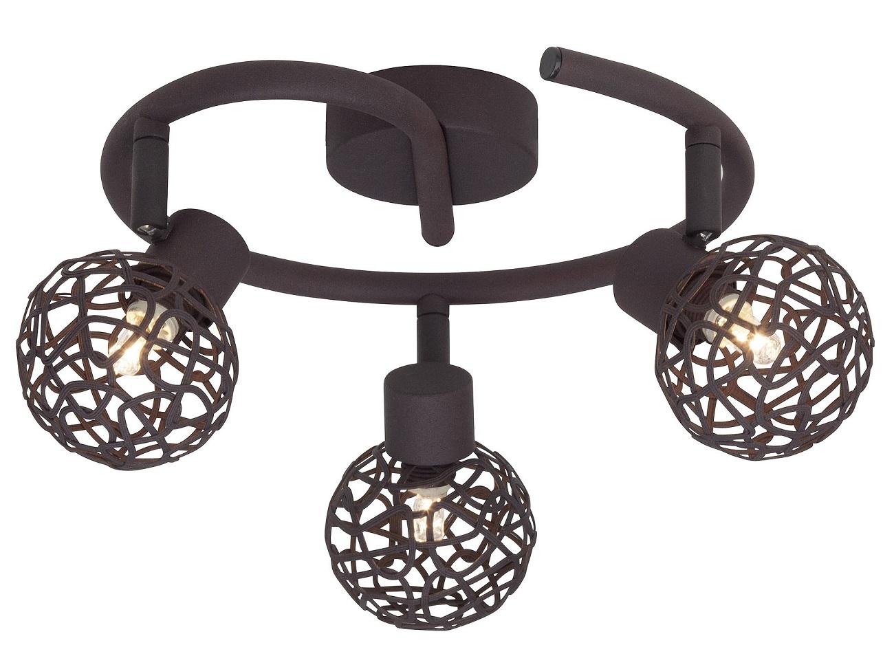 Plafondlamp Linda 3xG9 max 33W in bruin | Brilliant
