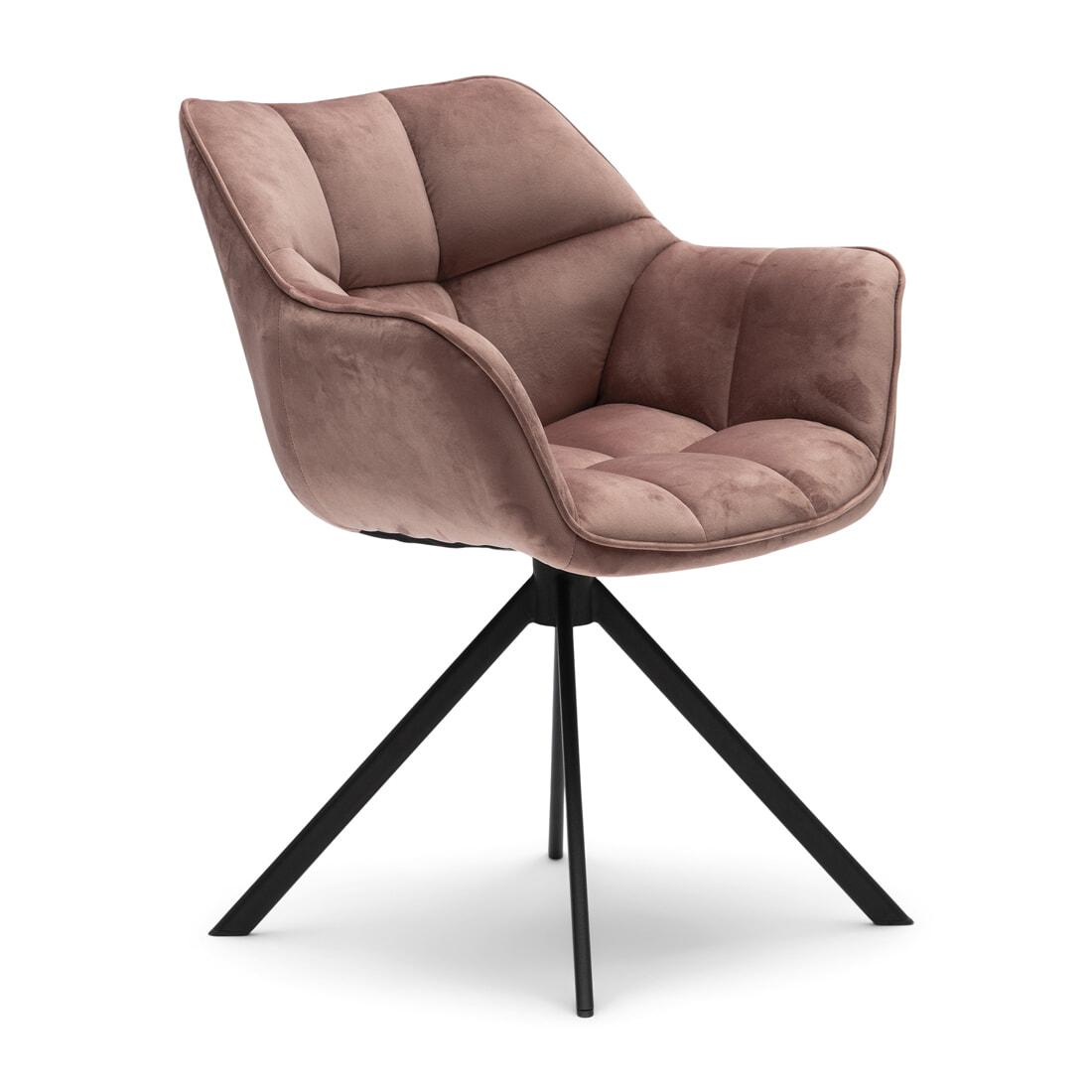 Rivièra Maison Eetkamerstoel 'Carnaby' Velvet III, kleur Rosé Stain | Rivièra Maison