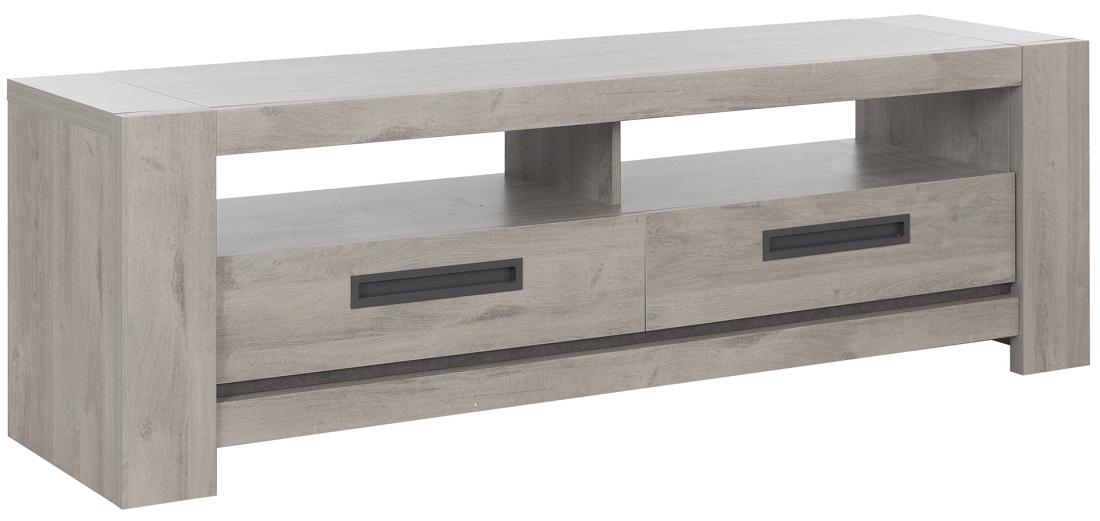 Tv-meubel Boston 182 cm breed in licht grijs eiken   Gamillo Furniture